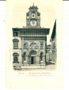 1900 ca AREZZO Veduta con il Palazzo della FRATERNITA' *Cartolina postale FP NV