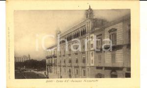 1900 ca BARI Corso Vittorio Emanuele e Palazzo FIZZAROTTI *Cartolina FP NV