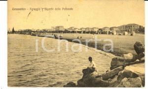 1920 CESENATICO (FC) Spiaggia e blocchi della Palizzata *Cartolina FP VG