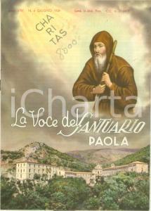 1959 PAOLA (CS) La Voce del Santuario *Rivista mensile anno XXXI n. 6