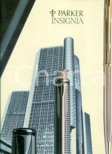 1985 ca PARKER INSIGNIA Pannello pubblicitario da tavolo ILLUSTRATO