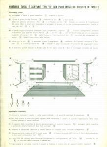 1950 ca MILANO Ditta OSCAM Montaggio tavoli e scrivanie in PASFLEX *Illustrato