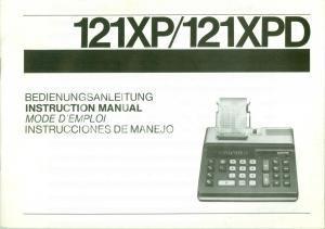 1979 TRIUMPH 121 XPD calcolatrice Libretto di istruzioni ILLUSTRATO