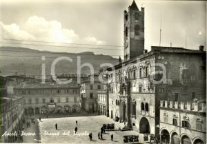 1960 ASCOLI PICENO Veduta di piazza del POPOLO con Palazzo dei Capitani *FG VG