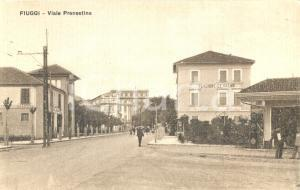 1930 ca FIUGGI (FR) Viale PRENESTINA con Pensione LE PALME *ANIMATA FP NV