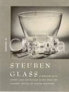 1970 ca NEW YORK STEUBEN Glass Works art manufacturer *Opuscolo pubblicitario