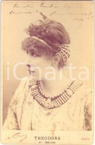 1886 PARIS Sarah BERNHARDT nei panni di THEODORA *Foto NADAR con AUTOGRAFO
