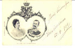 1900 FINALMARINA Vittorio Emanuele III e Regina Elena *Germaine DE LASSUS