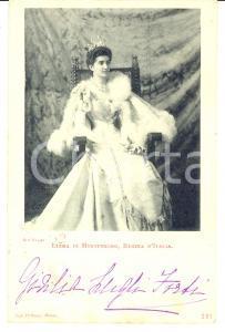 1900 PADOVA Regina Elena di Montenegro *Autografo Giulia LUGLI FORTI