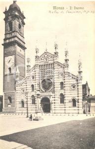 1920 ca MONZA Veduta della Piazza con il Duomo *Cartolina FP NV