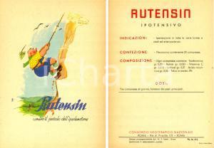 1955 ca ROMA Consorzio Neoterapico Nazionale RUTENSIN ipotensivo *Pubblicità