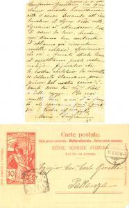 1900 LOCARNO (CH) Cartolina al cav. Carlo ROVELLI di PALLANZA dalle figlie FP