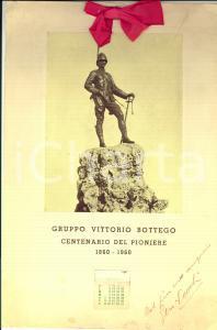 1960 MILANO Gruppo VITTORIO BOTTEGO Centenario del Pioniere *Gen. Stenio VECCHI