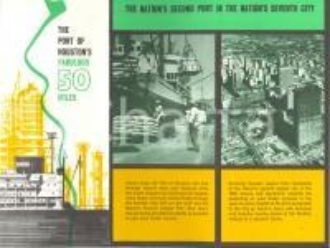 1965 ca HOUSTON (USA) The PORT'S fabulous 50 miles *Opuscolo ILLUSTRATO