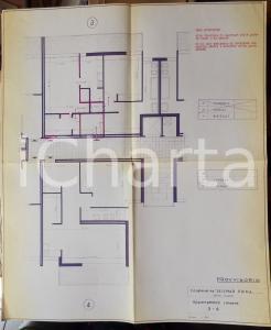 1965 SESTRI LEVANTE (GE) Cooperativa SELEMAR PRIMA *PLANIMETRIA appartamenti 3-4