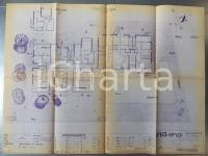 1965 SESTRI LEVANTE (GE) Immobile cooperativa SELEMAR ENAL Milano *PLANIMETRIA