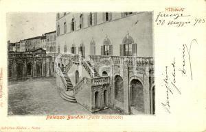 1903 SIENA La parte posteriore del Palazzo BANDINI *Cartolina postale FP VG