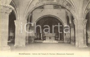1913 MONTEFIASCONE (VT) Interno del tempio di SAN FLAVIANO *Cartolina FP VG