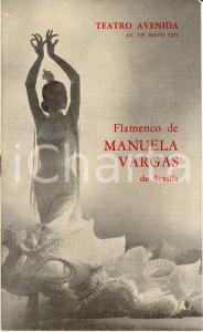 1969 BUENOS AIRES Teatro AVENIDA Flamenco de Manuela VARGAS de SEVILLA Programma