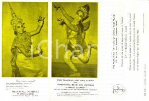 1960 ca BANGKOK (THAILANDIA) PHAKAVALI INSTITUTE Thai Classical fo Dance & Music