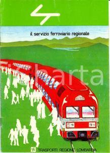 1982 MILANO Trasporti Regione LOMBARDIA Servizio ferroviario regionale *Opuscolo