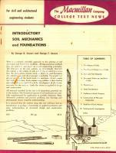 1954 MACMILLAN college text news George B. e George F. SOWERS Soil mechanics