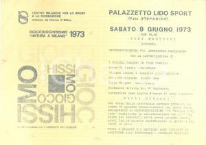 1973 MILANO Palazzetto LIDO GIOCOGIOCHISSIMO con Tony MARTUCCI e Paolo MENGOLI