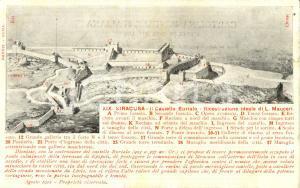 1912 SIRACUSA Castello EURIALO ricostruzione di Luigi MAUCERI *ILLUSTRATA FP NV