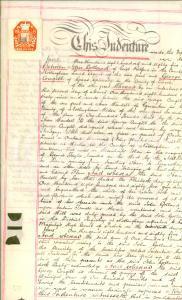1885 WESTON (NOTTINGHAM, UK) Contratto John GOLLAND e George CONGILL per pascolo