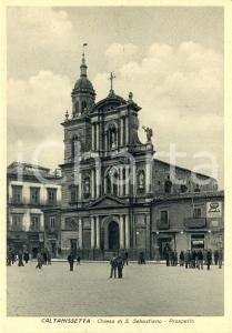1942 CALTANISSETTA Veduta della chiesa di SAN SEBASTIANO *ANIMATA FG VG LODIS