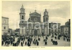 1942 CALTANISSETTA Veduta esterna cattedrale di SANTA MARIA LA NOVA *ANIMATA FG