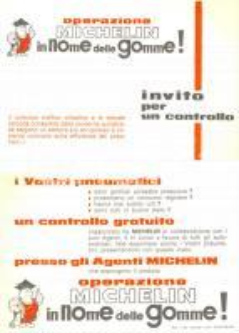 1966 Pneumatici MICHELIN In nome delle gomme! Buono per controllo *Cartolina FG