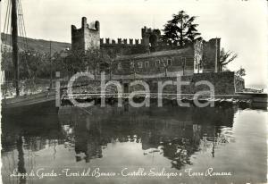 1956 TORRI DEL BENACO (VR) Castello SCALIGERO e torre romana su Lago di GARDA FG