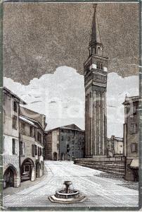 1973 PORDENONE Campanile della chiesa di SAN MARCO *Cartolina ARTISTICA FG VG