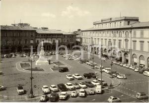 1960 ca FORLI' Veduta del municipio in piazza Aurelio SAFFI Cartolina ANIMATA FG