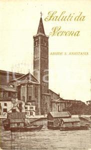 1922 VERONA Abside della chiesa di SANT'ANASTASIA dal fiume ADIGE *FP VG