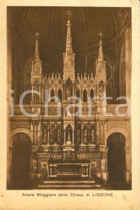 1930 ca LISSONE (MB) Altare maggiore chiesa dei SANTI PIETRO E PAOLO *FP NV