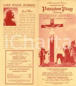 1955 LAKE WALES (USA) Passion play featuring Josef MEIER Volantino pubblicitario