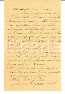 1919 ASNIERES-SUR-SEINE (F) Emigrato Pietro NICCO chiede data della sentenza