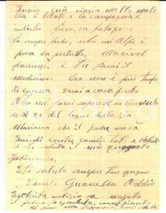 1926 VERCEIA (SO) Edoardo GUANELLA aiuta il cugino se la pagnotta è poca