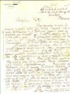 1925 FERRARA Auguri di Iole MARGUTTI per il compleanno del fratello lontano