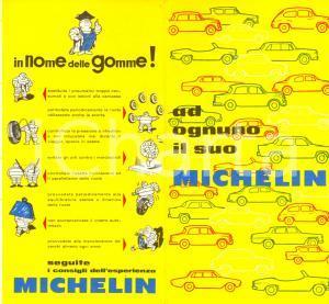 1966 MILANO Ad ognuno il suo pneumatico MICHELIN *Opuscolo ILLUSTRATO