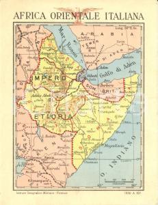 1936 AFRICA ORIENTALE Cartina delle colonie e testo discorsi Benito MUSSOLINI