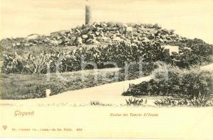 1900 ca GIRGENTI (AG) Le rovine del tempio di ERCOLE *Cartolina postale FP NV