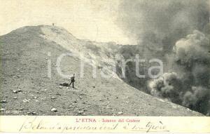 1907 CATANIA L'interno del cratere dell'ETNA *Cartolina postale ANIMATA FP VG