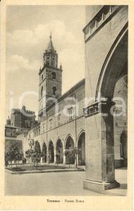 1920 ca TERAMO Piazza ROMA con campanile Cattedrale SANTA MARIA ASSUNTA *FP NV