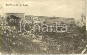 1920 ca MONTECASSINO (FR) Veduta esterna dell'abbazia *Cartolina postale FP NV