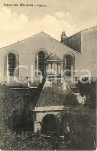 1911 PRIVERNO (LT) Esterno dell'Abbazia di FOSSANOVA *Cartolina postale FP VG