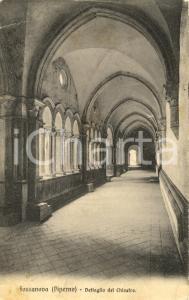 1911 PRIVERNO (LT) Chiostro dell'Abbazia di FOSSANOVA *Cartolina postale FP VG