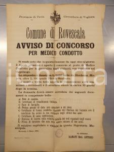 1905 ROVESCALA (PV) Bando per concorso di Medico condotto *Manifesto